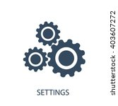 settings icon  | Shutterstock .eps vector #403607272