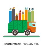 waste recycling categories... | Shutterstock .eps vector #403607746