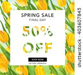 spring sale banner. background. ... | Shutterstock .eps vector #403607845