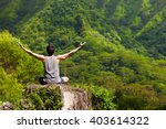 young man feeling free in... | Shutterstock . vector #403614322