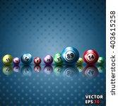 lottery balls background vector ... | Shutterstock .eps vector #403615258