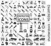construction icon set | Shutterstock .eps vector #403618942