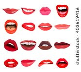 female lips set on sweet... | Shutterstock .eps vector #403619416