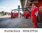 barcelona   march 3  mechanics... | Shutterstock . vector #403619926