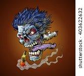 zombie flying head | Shutterstock .eps vector #403622632