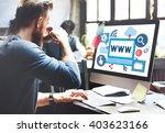 world wide web internet online...   Shutterstock . vector #403623166