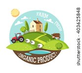 organic product. farm fresh.... | Shutterstock .eps vector #403625848