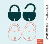 lock icon. padlock open and...