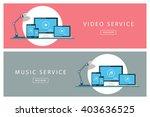set of flat design illustration ... | Shutterstock .eps vector #403636525