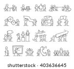 business icons set of sketch... | Shutterstock .eps vector #403636645