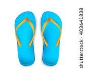 beach bright thongs. beach... | Shutterstock .eps vector #403641838