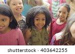 school children cheerful... | Shutterstock . vector #403642255