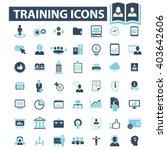 training icons  | Shutterstock .eps vector #403642606