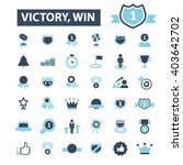 victory win icons  | Shutterstock .eps vector #403642702