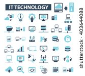 it technology icons    Shutterstock .eps vector #403644088