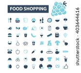 food shopping icons  | Shutterstock .eps vector #403644616