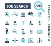 job search icons  | Shutterstock .eps vector #403644685