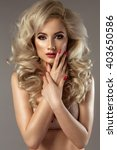 sensual beautiful blonde woman... | Shutterstock . vector #403650586