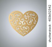 heart for laser cutting. heart... | Shutterstock .eps vector #403652542