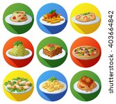 set of food icons. italian... | Shutterstock .eps vector #403664842