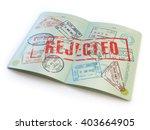 passport with rejected visa... | Shutterstock . vector #403664905