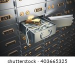 open safe deposit box with... | Shutterstock . vector #403665325