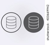 database icon in circle .... | Shutterstock .eps vector #403669942