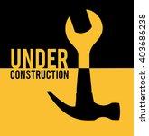under costruction. symbolic... | Shutterstock .eps vector #403686238