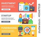 investment  startup ... | Shutterstock . vector #403687018