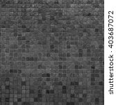 grey and black mosaic wall... | Shutterstock . vector #403687072