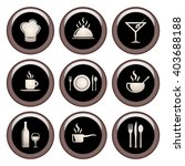 food   restaurant icons metal... | Shutterstock . vector #403688188