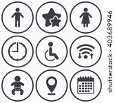 clock  wifi and stars icons. wc ...   Shutterstock .eps vector #403689946