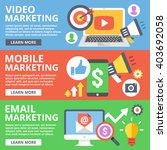 video marketing  mobile... | Shutterstock . vector #403692058