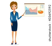 business woman character vector.... | Shutterstock .eps vector #403692592
