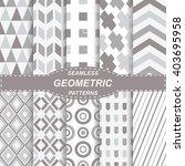 10 seamless geometric vector... | Shutterstock .eps vector #403695958