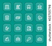 travel web icons set   Shutterstock .eps vector #403705798