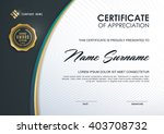 certificate template with clean ... | Shutterstock .eps vector #403708732