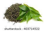 Pile Of Green Tea Isolated On...