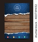 jeans texture on wood... | Shutterstock .eps vector #403739452