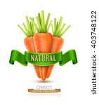 vector three carrots isolated... | Shutterstock .eps vector #403748122