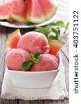 watermelon sorbet ice cream in... | Shutterstock . vector #403751122