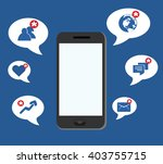 smart phone apps notification  | Shutterstock .eps vector #403755715