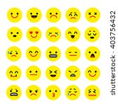 vector icons of smiley faces... | Shutterstock .eps vector #403756432