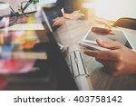 businessman making presentation ... | Shutterstock . vector #403758142