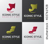 set of furniture logo templates.... | Shutterstock .eps vector #403761928
