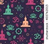 buddhist religion symbols... | Shutterstock .eps vector #403762015