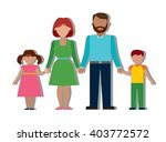 family colourful silhouette... | Shutterstock .eps vector #403772572
