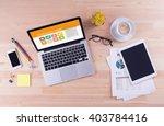 business desk concept  ... | Shutterstock . vector #403784416