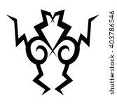 tattoo. stencil. pattern.... | Shutterstock .eps vector #403786546