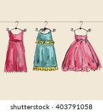 vector fashionable beautiful... | Shutterstock .eps vector #403791058